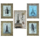 Aluminum on Burlap Wall Art Collection