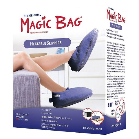 Magic Bag Heatable Slippers, Blue - Assorted Sizes