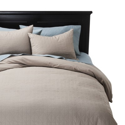 Khaki Gauze Duvet Cover Set  Tan (Queen) - Nate Berkus™