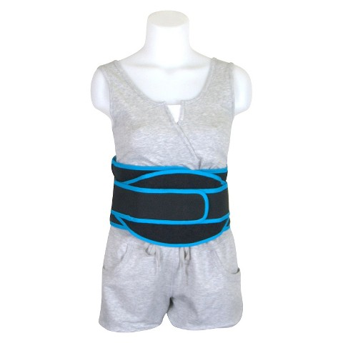 Drive Medical Active Care Low Profile Back Support - Black and Blue (Medium)