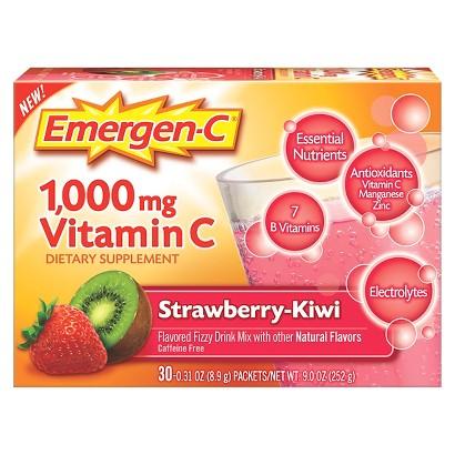 Emergen-C® Vitamin C Strawbery and Kiwi Dietary Supplement - 30 Count (5.1 oz Each)