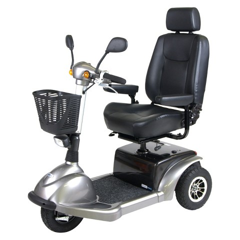 "Drive Medical Prowler 3 Wheel Full Size Scooter - Silver (20"")"