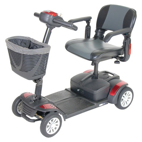 "Drive Medical Spitfire Travel Mobility Scooter - Grey and Red (16"")"