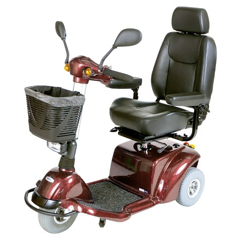 "Drive Medical Pilot 3 Wheel Medium Size Scooter - Brown (18"")"