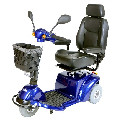 "Drive Medical Pilot 3 Wheel Medium Size Scooter - Blue (18"")"