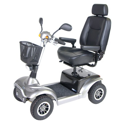 "Drive Medical Prowler 4 Wheel Full Size Scooter - Silver (22"")"