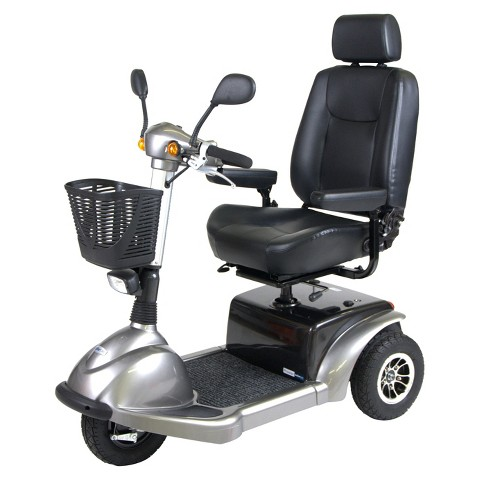 """Drive Medical Prowler 3 Wheel Full Size Scooter - Silver (22"""")"""
