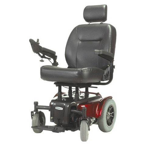 "Drive Medical Medalist Power Wheelchair - Red (22"")"