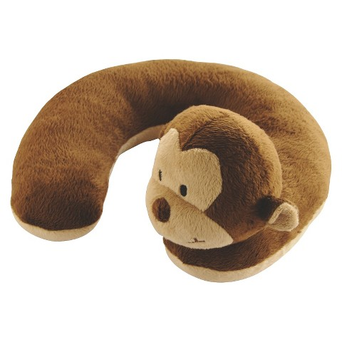 Eddie Bauer Travel Buddy Neck Roll  - Brown Monkey