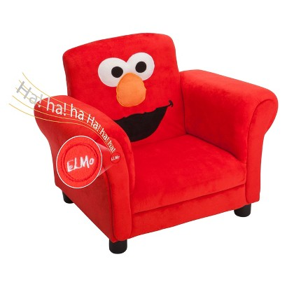 Sesame Street Upholstered Chair with Sound - Elmo Giggle