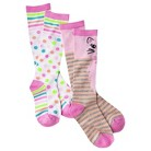 XHIL BG 2pk Knee High Socks Pink