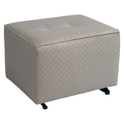 Little Castle Gliding Ottoman with Buttons - Halo Sterling