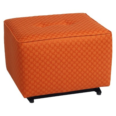 Little Castle Gliding Ottoman with Buttons - Halo Tiger Lily