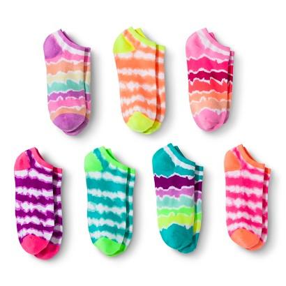 Xhilaration® Girls' 7-Pack Printed Sock - Assorted