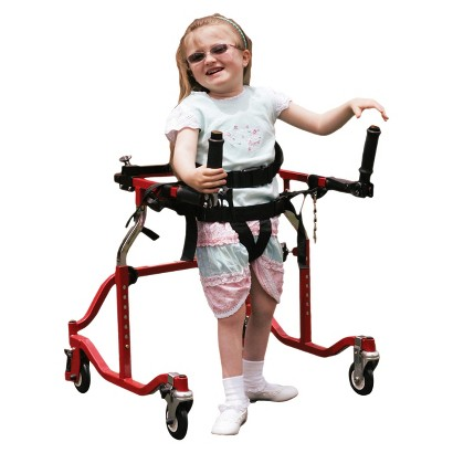 Drive Medical Pediatric Posterior Gait Trainer Luminator - Red