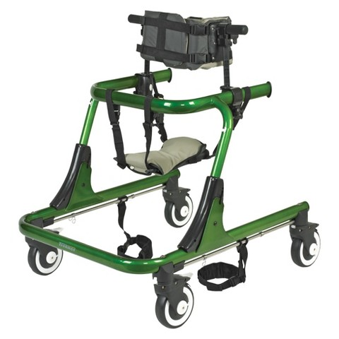 Drive Medical Hip Positioner and Pad for Trekker Gait Trainer - Green and Black (Large)