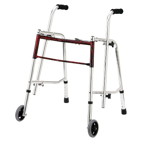 Drive Medical Glider Walker - Red (Standard)