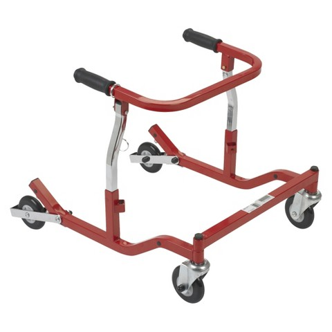 Drive Medical Pediatric Anterior Safety Roller - Tyke, Aluminum and Red