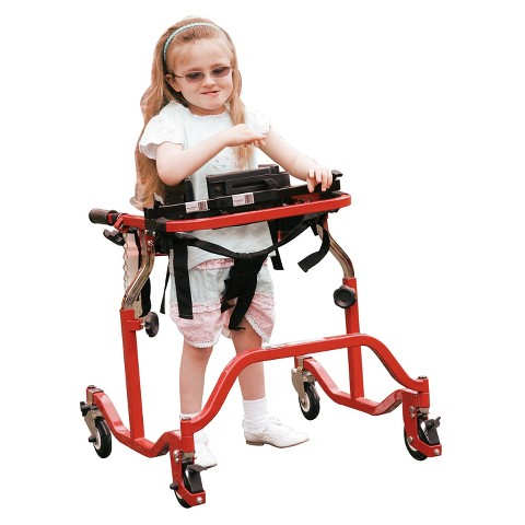 Drive Medical Anterior Gait Trainer - Red and Black