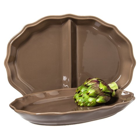 Threshold™ Wellsbridge Serving Platter Set - Mocha