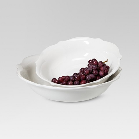 Threshold™ Wellsbridge Serving Bowl Set - White