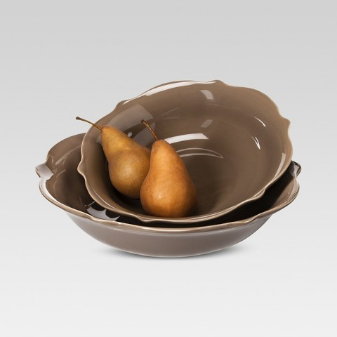 Threshold™ Wellsbridge Serving Bowl Set - Mocha