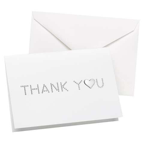 Embossed Dots Wedding Thank You Cards (50 count)