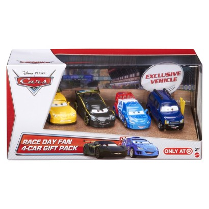 Disney Pixar Cars Race Day Fan Gift Cars - Pack of 4