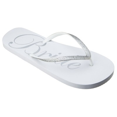 Women's Bridal Flip Flop White - Gilligan & O'Malley™