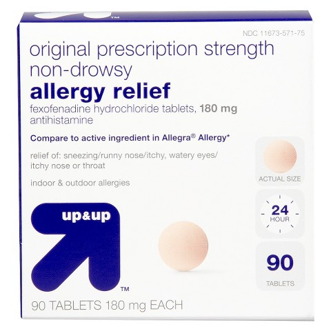 up & up™ Non-Drowsy Allergy Relief 180 mg Anthistamine Fexofenadine Hydrochloride Tablets