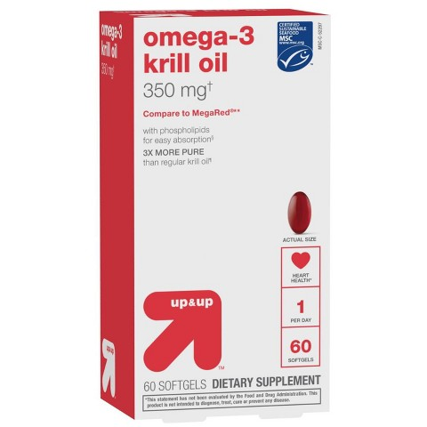 up & up™ Omega 3 Krill Oil Softgels - 60 Count