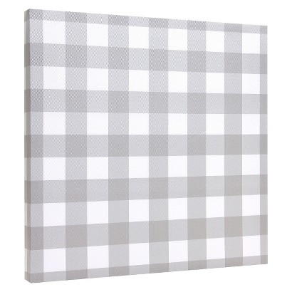 Canvas Tiles - Gray & White Stripe