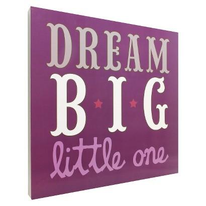 Dream Big Wall Art - Purple