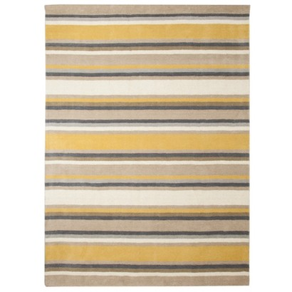 Threshold™ Stripe Area Rug - Gray/Yellow