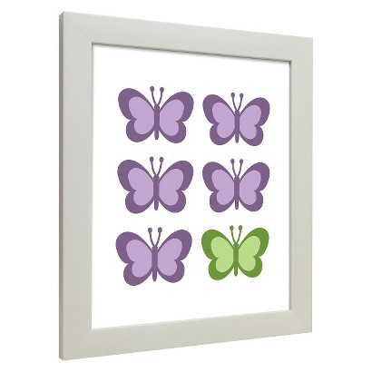 Icons - Butterflies Wall Art - Purple