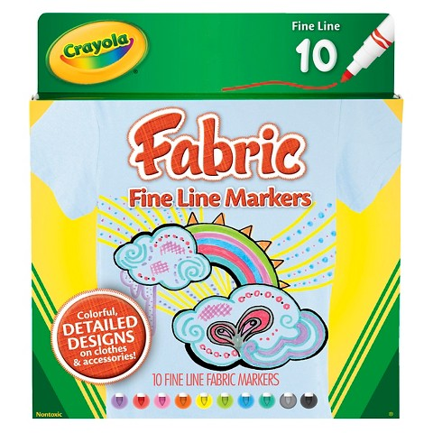Crayola 10ct Fabric Markers