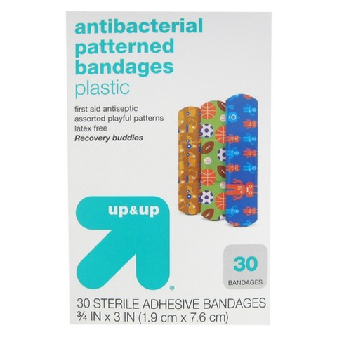 up & up™ Antibacterial Recovery Buddies Patterned Bandages - 30 Count