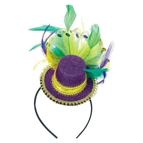 Mardi Gras Feathered Headband