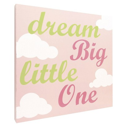 Dream Big Script Wall Art - Pink