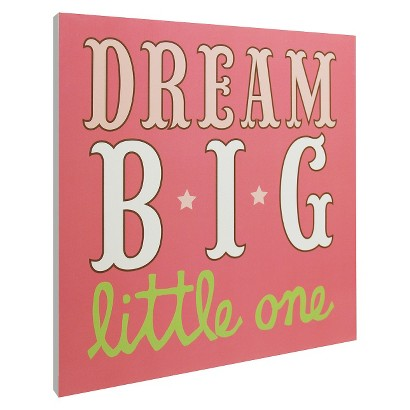 Dream Big Wall Art - Pink