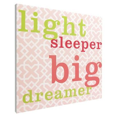 Light Sleeper Wall Art - Pink