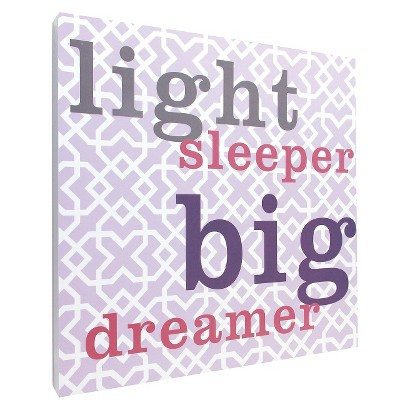 Light Sleeper Wall Art - Purple