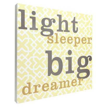 Light Sleeper Wall Art - Yellow