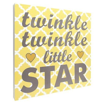 Twinkle Twinkle Wall Art - Yellow