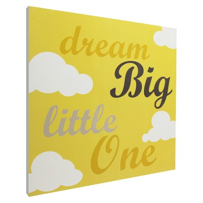 Dream Big Script Wall Art - Yellow