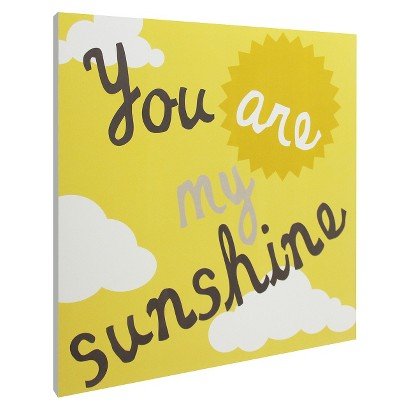 You Are My Sunshine Wall Art - Yellow