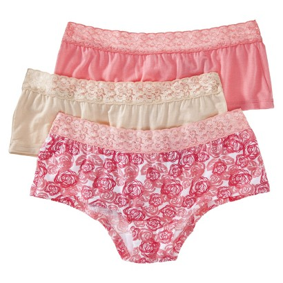 Fruit Of The Loom® Women's Modal Lace 3-Pack Boyshorts - Assorted Colors/Patterns