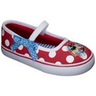 Toddler Girl's Minnie Canvas Mary Jane Shoes - Red