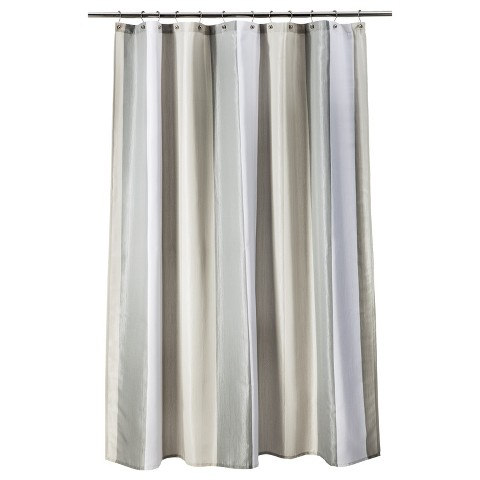 Threshold™ Stripe Shower Curtain - Gray