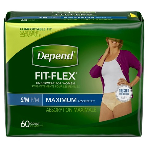 Depend  Small and Medium Underwear for Women - 60 Count